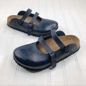 Birkenstock Birkies  size 6 Sandals Navy